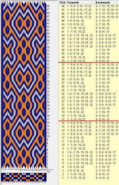 22 tarjetas, 3 colores, repite cada 16 movimientos // sed_594 diseñado en GTT༺❁