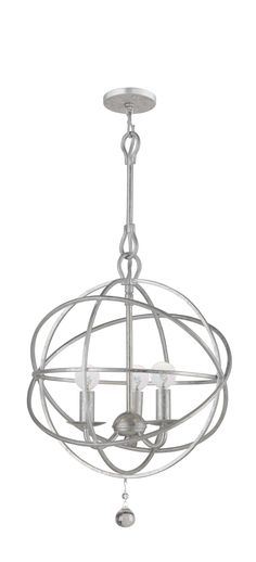 "Crystorama ""Solaris"" in Olde Silver best traditional chandeliers"