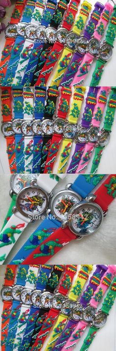 15pcs/lot Cheap cartoon Teenage Mutant Ninja Turtles watch 3D kids Watch Best gift good quality free shipping $22.5