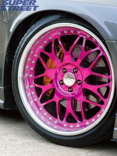 Pink rims for sale for stylish men and pretty women! : pink odyssey rims for sale. Pink Wheels, Car Wheels, Chrome Wheels, My Dream Car, Dream Cars, Jdm, Rims For Cars, Car Rims, Rims For Trucks