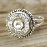 Sterling Silver Rope Bullet Ring