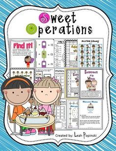 This has everything and is no-prep! A total of ★16 math center activities ★10 worksheets to check understanding ★ labels for organization ★more!