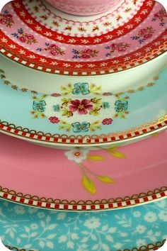 Pretty pastel vintage plates