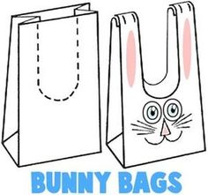 paper bag easter bunny - Google Search