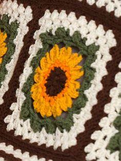 Crochet Sunflower Afghan | AllFreeCrochetAfghanPatterns.com