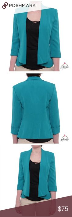 🆕 Kasper Odyssey Open Front Cardigan Jacket About this item Features 97% Polyester/3% Spandex Open Front closure The style name is Odyssey Open Front Cardigan Jacket. The style number is 10596006-6KY. Brand Color: Lagoon (Main Color: Green) Material: / Elastane Closure: Open Front Size Type: Regular Kasper Jackets & Coats Blazers