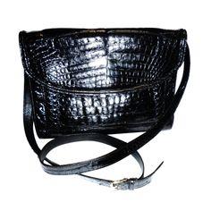 Only $399 in my store on 1stdibs | Donna Elissa genuine alligator cross body/clutch bag