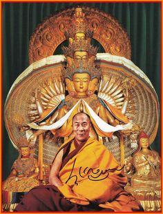 His Holiness the Dalai Lama again says it's possible to have two Panchen Lamas Buddhist Meditation, Buddhist Monk, Buddhist Art, Meditation Music, Gautama Buddha, Buddha Buddhism, Tibetan Buddhism, 14th Dalai Lama, Vajrayana Buddhism
