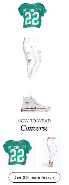 """I NEED HELP"" by princess-k-744 on Polyvore featuring !M?ERFECT, Boohoo, Converse, women's clothing, women's fashion, women, female, woman, misses and juniors"