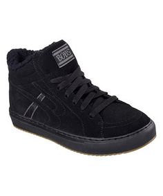 Black Puzzles Check Mate Suede Sneaker
