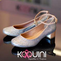 Glitter + Saltinho Conforto = Arrasando #koquini #sapatilhas #euquero #saltinho Compre Online: http://koqu.in/1hGJiDo