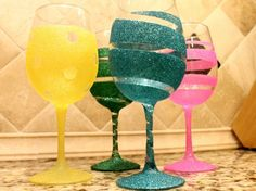 DIY Wine Glass 11 634x475 16 Useful DIY Ideas How To Decorate Wine Glass