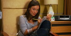 Face Cast: Olivia Wilde as SSA Charlie Rhys with the FBI's BAU Charlie sketching