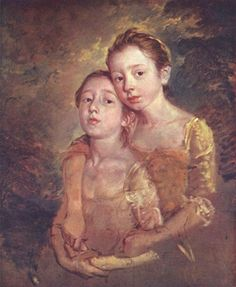 Portrait of the artist's daughter with a cat - Gainsborough Thomas