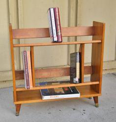 Vintage Danish Style Bookshelf-Mid Century Bookshelf by 15degrees on Etsy