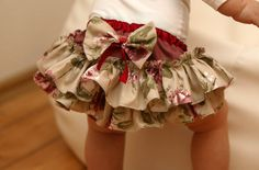 Ruffle Diaper Cover Baby Girl Red Rosy Bloomer Toddler by CakasLv, $23.00