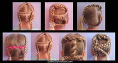 Alphabet Braids | 37 Creative Hairstyle Ideas For Little Girls. I think they are ugly. Lily loves them.