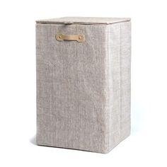 Wäschekorb mit Deckel ca L:35 x B:35 x H:58cm, natur