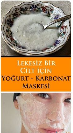 Yogurt and Carbonate Mask- Yoğurt ve Karbonat Maskesi the mask # Doğalmask to - Homemade Skin Care, Diy Skin Care, Skin Care Routine For 20s, Facial Cleansers, Healthy Beauty, Face Care, Beauty Skin, Beauty Makeup, Natural Skin Care