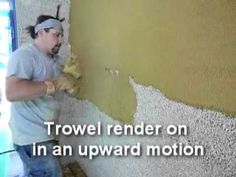 How to mix and apply AHMC hemp lime render in a single coat. Hemp building, With music by Mowbray Road