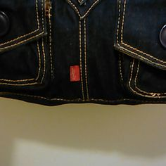 dark denim Levi purse one long strap very nice purse not use much cleaning inside Bags