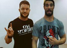 Finn Balor and Seth Rollins