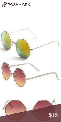 🥂 Mirrored oversized octagon festival sunglasses Brand new with tags, Torrid oversized silver wire rimmed octagon mirrored sunglasses! Festival ready. Bundle and save! torrid Accessories Sunglasses