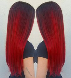 Vibrant Red Hair Color with Redken Gels - Looking for Hair Extensions to refresh your hair look instantly? KINGHAIR® only focus on premium quality remy clip in hair. Vibrant Red Hair, Hair Colorful, Bright Hair Colors, Ombre Hair Color, Red Hair Bright Cherry, Bright Pink, Hair Colours, Dark Purple, Dye My Hair