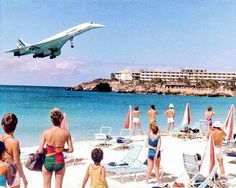 Air France, Concorde, landing at Saint Maarten; photo was taken photo: (unknown) by alphaviation May 24 2016 at Air France, Sud Aviation, Civil Aviation, Commercial Plane, Commercial Aircraft, Concorde, Image Avion, Photo Avion, Passenger Aircraft