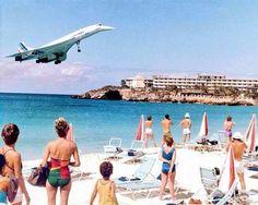 Concorde landing St.martin