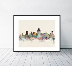 Lake City, Watercolours, Pop Art, Unique Jewelry, Frame, Handmade Gifts, Color, Etsy, Vintage
