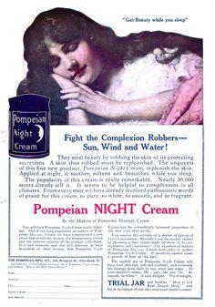 SKIN CARE: Pompeian Night Cream, November 1915