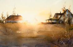 Ilya Ibryaev, love the sense of light in this watercolor!