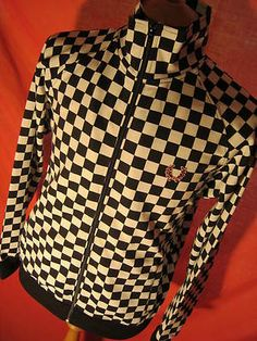 It's doesn't get any more new wave than this Fred Perry checkerboard track jacket on ebay.