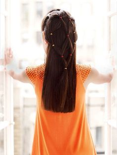 Long Hairstyles for Girls -- Ponytail Veil