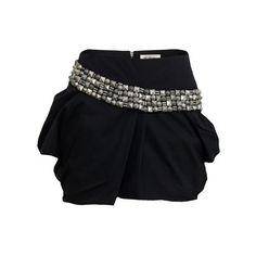 Stud 28 Black Skirt ($160) ❤ liked on Polyvore featuring skirts, mini skirts, bottoms, saias, gonne, studded skirt, religion clothing, cotton skirt, short skirts and studded mini skirt