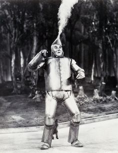 Jack Haley as the Tin Man, in The Wizard of Oz (1939)
