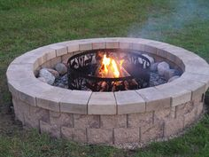 How to Build a Fire Pit  Enhance your home with a beautiful fire pit using the AB Courtyard Collection. With this flexible system you can build a fire pit in a weekend without any special tools and without splitting blocks. To build on soil, you must create a foundation pad.     www.andersonsmasonry.co