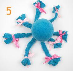 No sew fleece octopus