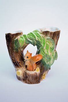 Hornsea 1960's Squirrel vase by serendipitychild on Etsy