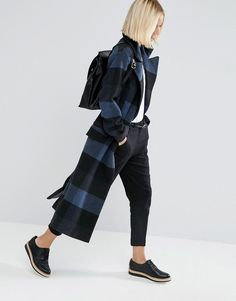 Image 4 of ASOS Coat in Oversized Check