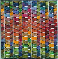 """buschfeuer""/""bush fire"" art quilt, by monika flake, on the quilthexle blog"
