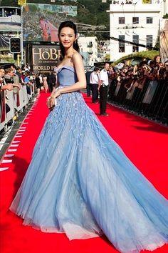 """La actriz Yao Chen en la premiere """"The Hobbit 2012"""