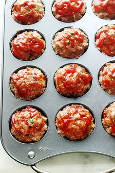 Lunch Recipes, Keto Recipes, Cooking Recipes, Mini Pains, Best Diner, Sauce Tomate, Batch Cooking, Meatloaf Recipes, Four
