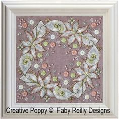 Faby Reilly Designs - Wintry Blooms (cross stitch pattern)