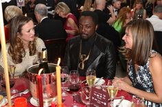 Lucy Yeomans (Harper's Bazaar), Will.I.Am & Natalie Massenet MBE at the VIP dinner at the British Fashion Awards 2012