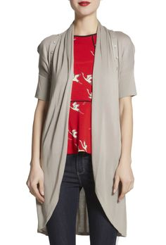 Button Raglan Cardi Knitwear, Duster Coat, Buttons, Sweaters, Jackets, Fashion, Down Jackets, Moda, Tricot