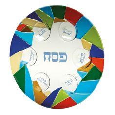 Mosaic Seder Plate - Seder Plates - Passover - Holidays