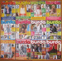 All 12 Issues 1999 English Burda Moden Fashion Magazine Sewing Uncut Patterns #BurdaModen