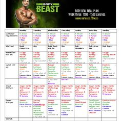 Body Beast workout tracker sheet | Health & Fitness | Pinterest